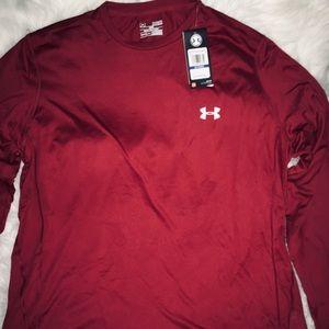 Under Armour Burgundy Men's  Long Sleeve Shirt XL